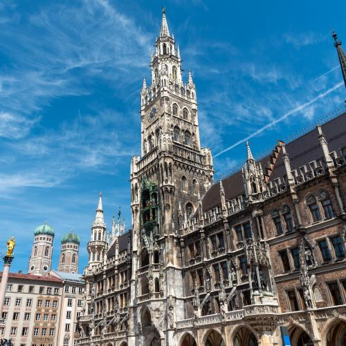 The townhall at the Marienplatz in Munich