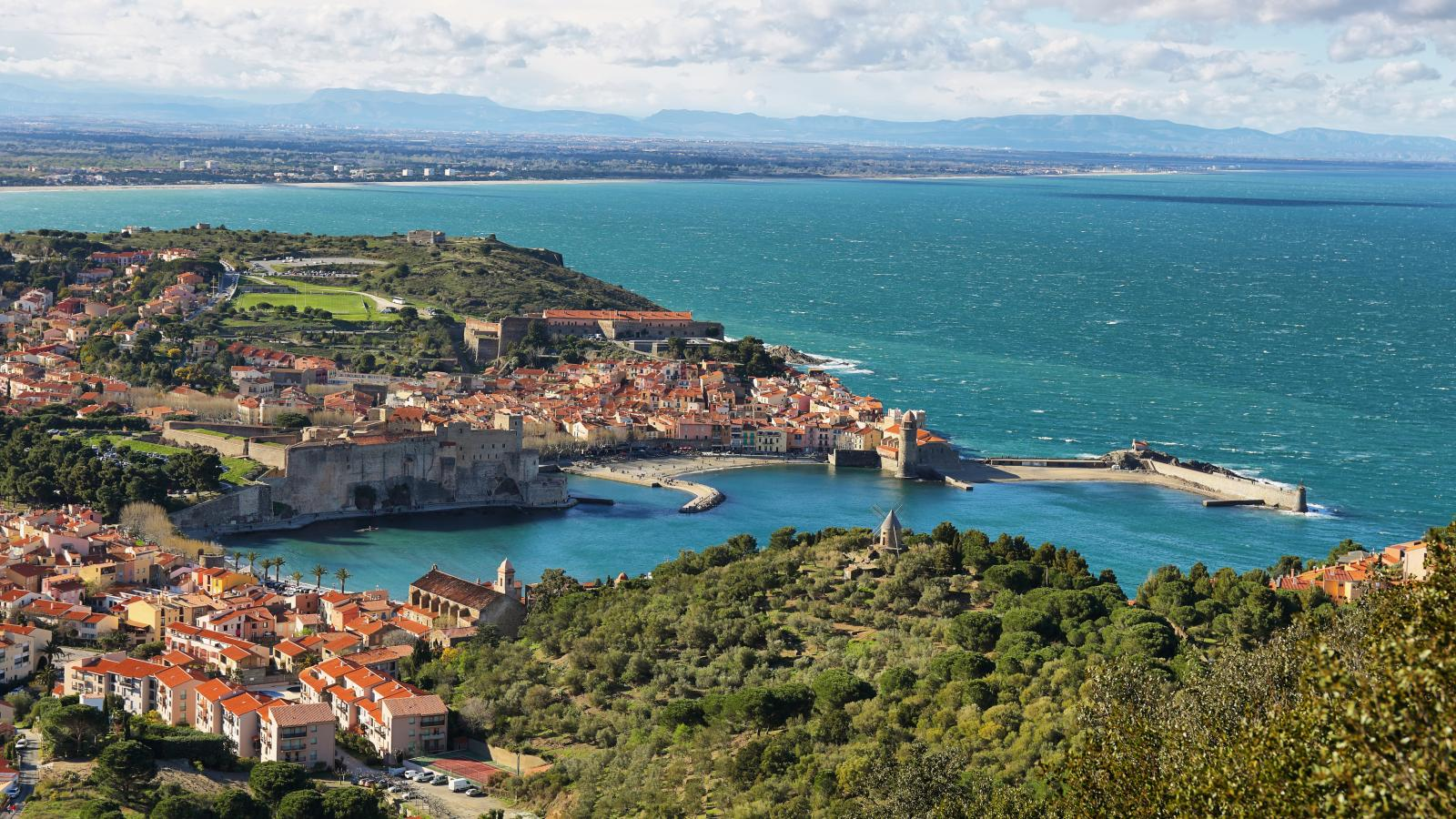 Collioure Medieval Fortress Walls France